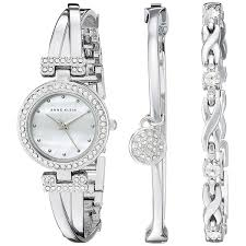 anne klein bracelet set images Shop anne klein silver tone alloy bangle watch and bracelet set jpg