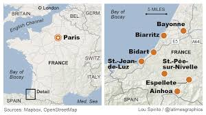 Biarritz France Map by Charm Of Espelette France Puts Stop Sign On Road Trip La Times
