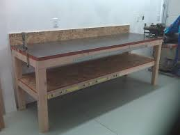 Woodworking Workbench Top Material by Garage Woodworking Bench Vise Woodworking Benches Garage