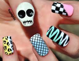 skull nail art designs perfect choices fashion in pix