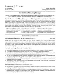 Resume Examples For Experienced Professionals by Resume Format For Experienced Marketing Professionals Free