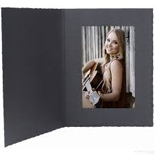 black cardboard certificate folder frame w plain border sold in