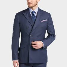 joseph abboud blue breasted multistripe slim fit suit