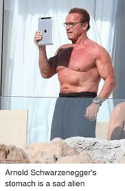 Arnold Schwarzenegger Memes - infphotocom arnold schwarzenegger s stomach is a sad alien arnold