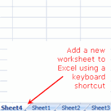 shortcut keys to common excel tools and features