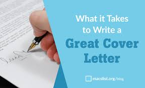 what it takes to write a great cover letter