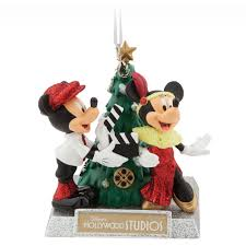 mickey and minnie mouse holiday ornament disney u0027s hollywood