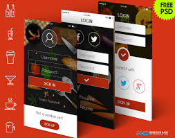 5 restaurant login screens for mobile app free android ui