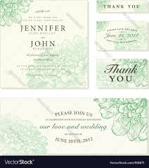 Wedding Invitation Card Fonts Wedding Invite Cards Royalty Free Vector Image