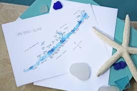 watercolor island map greeting cards island nj