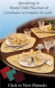 Placemats For Round Table Round Table Wedge Placemats By Sweet Pea Linens Usa Made