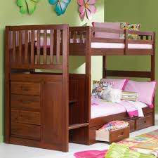 Viv Rae Kaitlyn Twin Over Twin Bunk Bed With Stairs  Reviews - Stairs for bunk beds