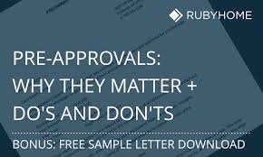 pre approval letter sample do u0027s and don u0027ts rubyhome