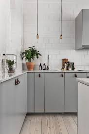 Pull Down Kitchen Cabinets Kitchen Nice Gray Contemporary Stainless Steel Nice L Shape