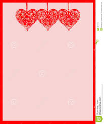 5 best images of printable heart stationary heart love valentine