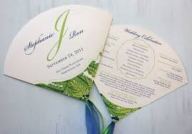 make your own wedding fan programs 11 wedding ceremony programs that as fans mywedding