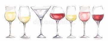 beautiful wine glasses watercolor wine glasses set stock vector illustration of merlot