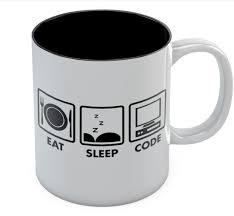amazon com eat sleep code coffee mug geek gift idea funny