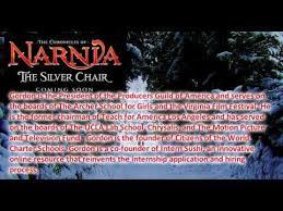 The Silver Chair Trailer Work To Begin Soon On Fourth U0027narnia U0027 Film Worldnews