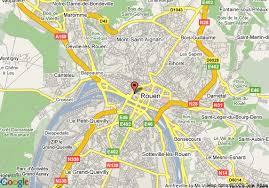map of rouen map of best western hotel du vieux marche rouen