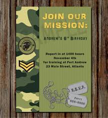 army birthday invitations army birthday invitations with elegant