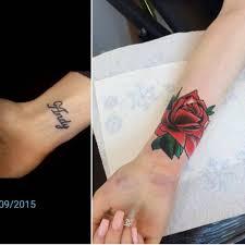 small wrist cover up tattoos ideas