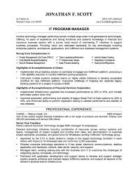 Resume Templates For Experienced It Professionals Resume Example For It Professional Resume Example For It