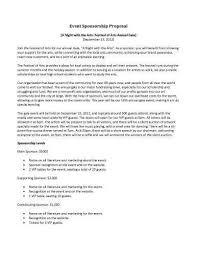 fundraising sponsorship proposal template sample sport event