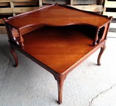 mid century modern surfboard coffee table vintage imperial 2 tier corner end table solid wood mahogany mid