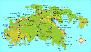 map usvi st caribbean map major tourist attractions maps