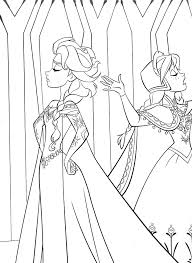 walt disney coloring pages queen elsa princess anna walt disney