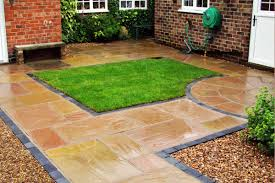Indian Sandstone Patio by Raj Green Sandstone Paving Patio Kit Calibrated 22mm Nustone