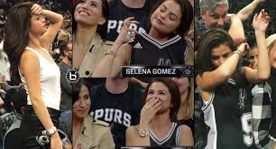 Spurs Meme - selena gomez looking hot dabbing at the spurs lakers game