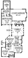 long and narrow 36264tx architectural designs house plans