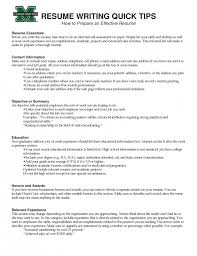 effective resumes tips