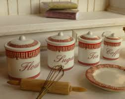 country canisters for kitchen 1 12 scale botanic fruits dollhouse miniature canisters