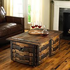 wine barrel coffee table plans