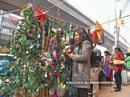 budget christmas trees bring festive cheer to noida noida news