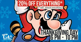 thanksgiving and black friday sales level up entertainment