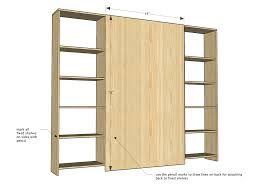 Wood Shelf Plans For A Wall by Ana White Sliding Door Cabinet For Tv Diy Projects