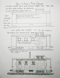 Caboose Floor Plans How To Draw Worksheets For The Young Artist December 2012