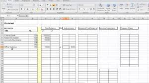 Bookkeeping Spreadsheets For Excel Accounting Worksheet Mp4 Youtube
