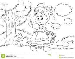 awesome printable red riding hood cartoon coloring pages
