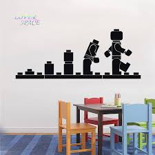 compare prices on quote stencil online shopping buy low price lego evolution decal wall sticker lego wall art vinyl stencil kids room cartoon decorative stickers brand