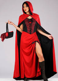 Red Riding Hood Costume Womens Long Red Riding Hood Costume