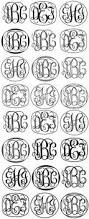 Initial Monogram Fonts Circle Monogram Font Gift Ideas Pinterest Circle Monogram