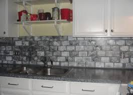 faux kitchen backsplash gray brick backsplash faux grey veneer cabinets kitchen marvelous