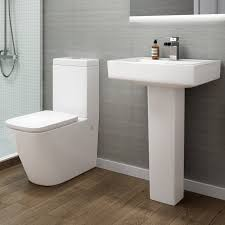 Square Toilet by Square White Close Coupled Toilet Pan Cistern Wc Modern Bathroom