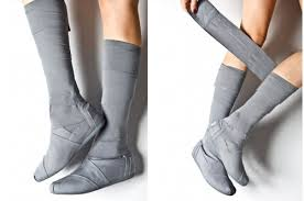 womens grey boots size 11 brand toms grey boots in us size 11 fashion knee high style for