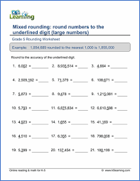 grade 5 place value u0026 rounding worksheets free u0026 printable k5